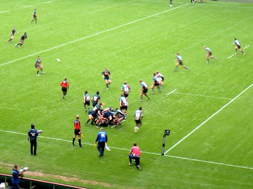 The London Irish win the ball from a ruck