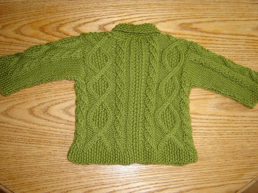Green Trellis Baby Sweater