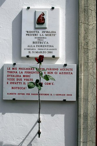 Shrine to the Death of Bistecca Fiorentino
