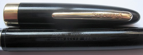 Sheaffer Touchdown - Cap and Barrel Imprint
