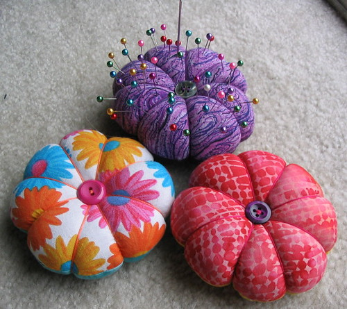 A trio of pincushions