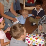 playing pass the parcel at ryans party<br/>01 Oct 2005