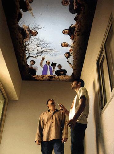 smoker's ceiling