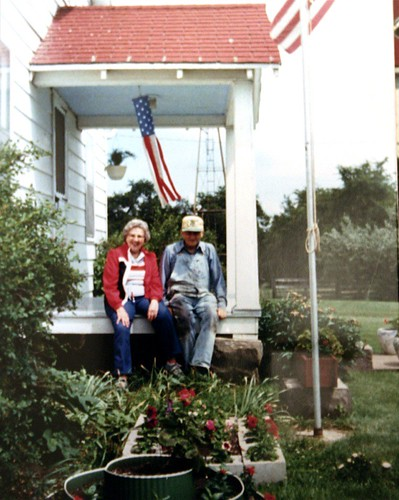 Grandma and Grandpa on the porch