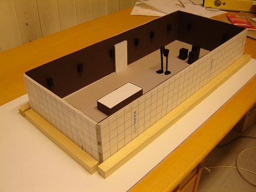Lately I've been building a 1:25 model of the gallery space at Hordaland ...