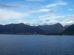 Balestrand, as seen from the Sognefjord