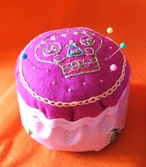 Pink recycle pincushion