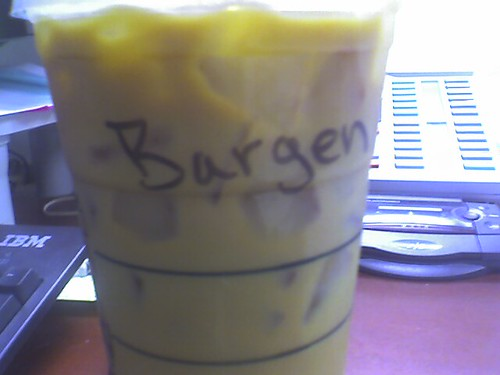 I stole Bargen's coffee