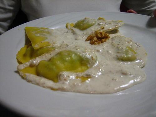 Pansotti with Walnut Sauce