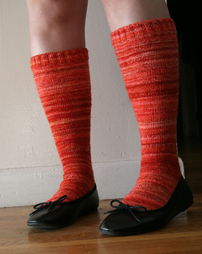 Sock Hop socks, done!