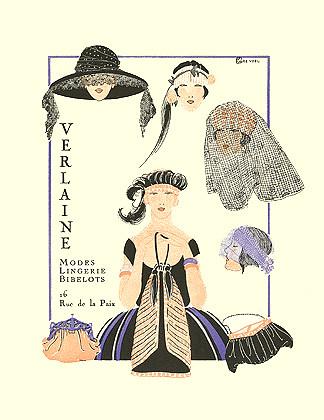 Aendel, Gazette du Bon Ton, Verlaine Modes Lingerie ad, 1920
