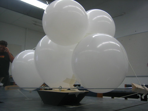 (1) only 2 out of the 7 balloons inflated. is there a physics concept of