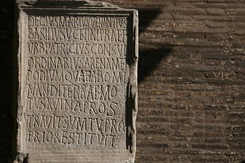 Inscription, Colosseum