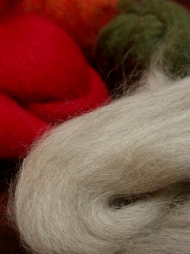 フェルト用の羊毛