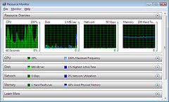 Resource Monitor in Windows Vista