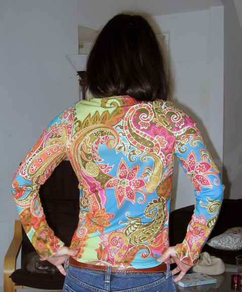 Burda WOF paisley top back