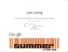 GSoC certificate