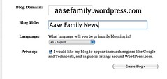 Aase Family Blog Creation