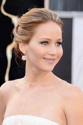 Jennifer Lawrence updo in Oscars