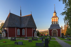 Happy Sunday! Very much off the beaten road – Övertorneå church around sunset 10 pm photo by Maria_Globetrotter (not globetrotting)