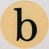Vintage Sticker Letter b