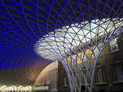 London Kings Cross Station concourse roof photo by surreyblonde