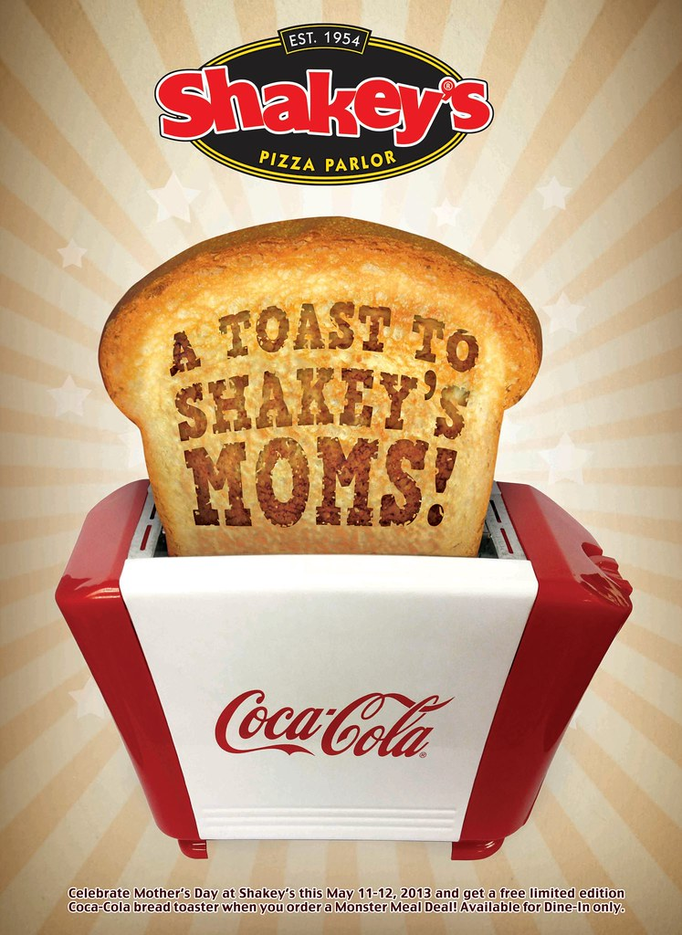 Shakey's Pizza - get a free limited edition Coca-Cola bread toaster when you order a Monster Meal Deal