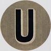 Vintage Sticker Letter U