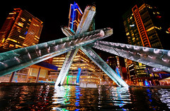 Vancouver Olympic Cauldron at Night photo by TOTORORO.RORO
