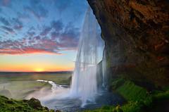 Seljalandsfoss Siren Sunset photo by David Shield Photography