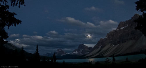 Rising Moon - Bow Lake photo by petechar