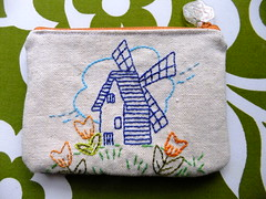 Windmill and tulips photo by CraftyHippy