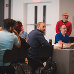 First rehearsal for JULIUS CAESAR at Writers Theatre. Photo by Joe Mazza—brave lux.