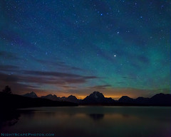 "Teton Aurora photo by IronRodArt - Royce Bair (""Star Shooter"")"