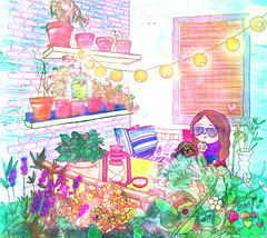 anna chillin' in her balcony photo by crosti
