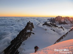Chamonix, Mont-Blanc - Above the Clouds @Sunrise photo by GlobeTrotter 2000