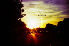 Driving into the Sun photo by The Nick Page