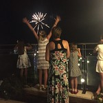 Emma catching fireworks<br/>17 Aug 2016