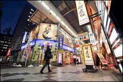 Quiet Osaka shopping arcade photo by Eric Flexyourhead