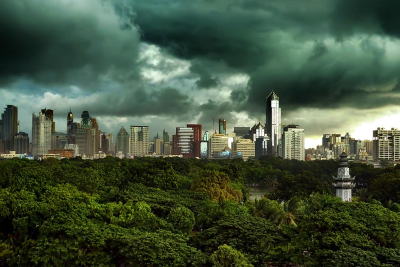 Afternoon Storm Over Bangkok's Central Park photo by I Prahin | www.southeastasia-images.com