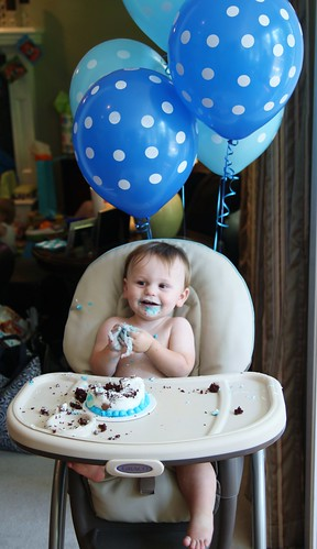 1st birthday blue bear party