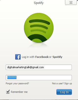 spotify login