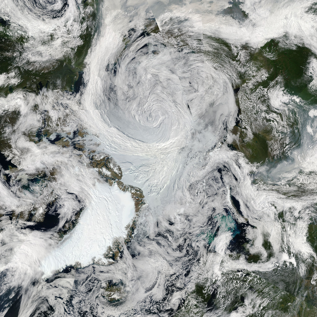 Summer Storm Spins Over Arctic photo by NASA Goddard Photo and Video