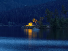 Blue Hour at the Lake and in the City Schluchsee, Germany photo by Batikart ... handicapped ... sorry for no comments