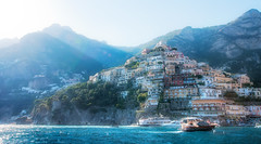 Positano by Boat HDR photo by Asquiff