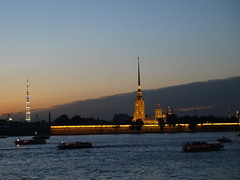 Peter and Paul Fortress and SS Peter and Paul Cathedral, seen from across the Neva River, St. Petersburg photo by e_chaya