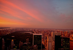 Sunset Over Central Park and the New York City Skyline photo by Vivienne Gucwa