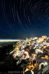 Santorini Startrails photo by alpenbild.de