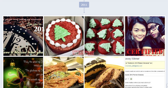 Facebook photos are organized by year, Timeline view