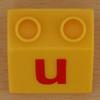 Educational Brick letter u